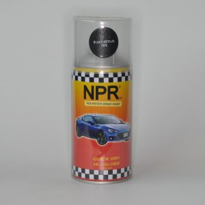 NPR Spray Paint 300 Cc Black Metalic 1032